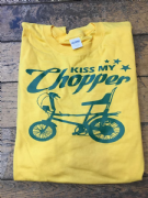 Kiss My Chopper T-Shirt  (Yellow and Green)